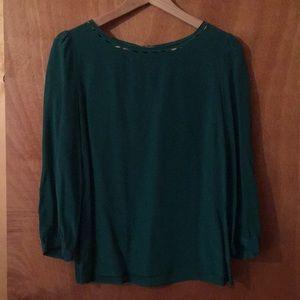 JCrew 3/4 sleeve silk blouse